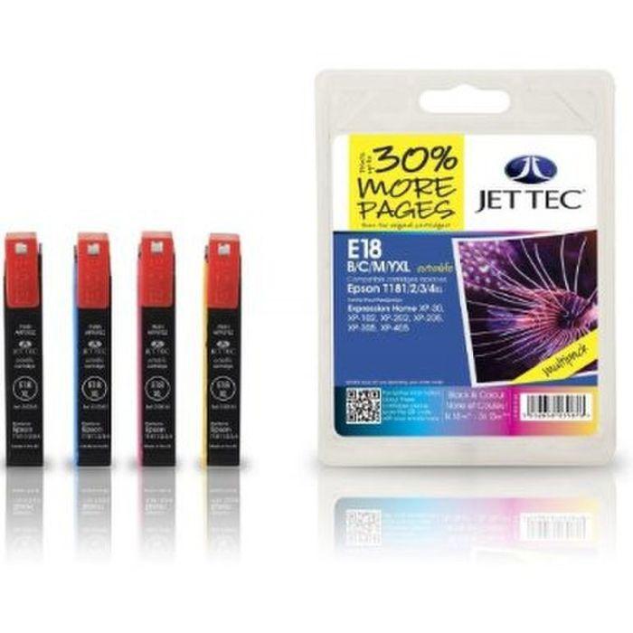 Jet Tec E18 Multipack XL T1811/2/3/4 für Epson Drucker Multipack - T1816