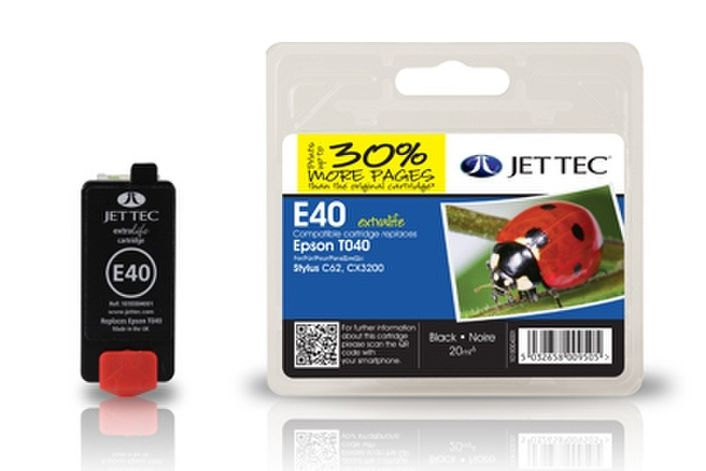 Jet Tec E40 kompatibel Epson T040 schwarz