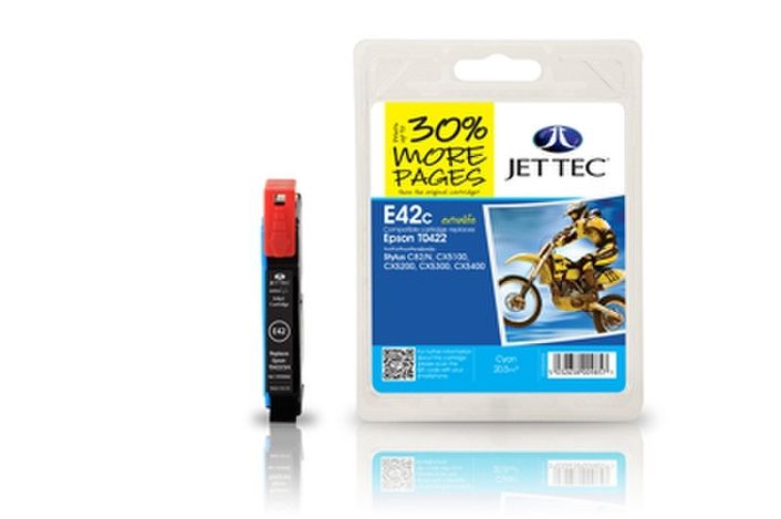 Jet Tec E42c Druckerpatrone kompatibel für Epson T0422 Cyan Epson Stylus C82, CX5100, CX5200, CX5300