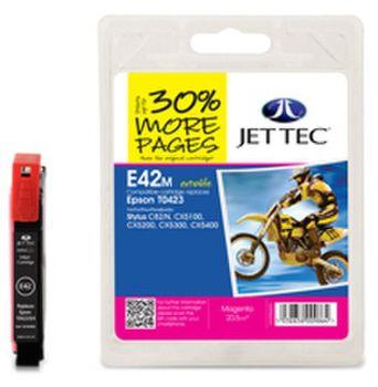 Jet Tec E42m Druckerpatrone kompatibel für Epson T0423 Magenta Epson Stylus C82, CX5100, CX5200, CX5300
