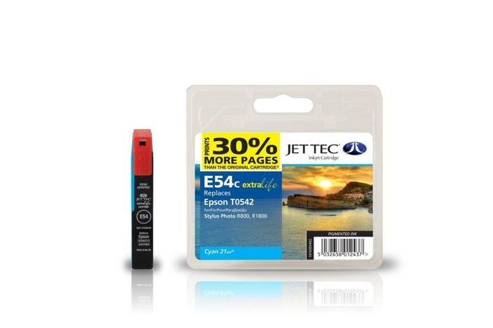 Jet Tec E54C für Epson T0542 Cyan