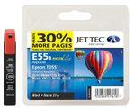 Jet Tec E55B Tintenpatrone für Epson T0551 Schwarz / Schwarz 001