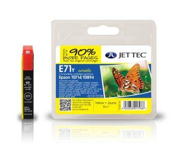Jet Tec E71y ersetzt Epson T0714 Gelb