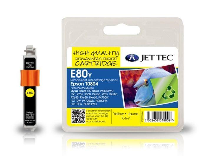 Jet Tec E80y für Epson T0804 Gelb