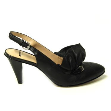 BRONX Pumps Sandalette Damen 73476 Flake Patent Black