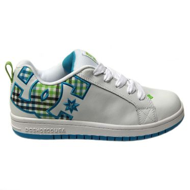 DC Kids Court Graffik SE 301131B White/Turquoise/Soft Lime