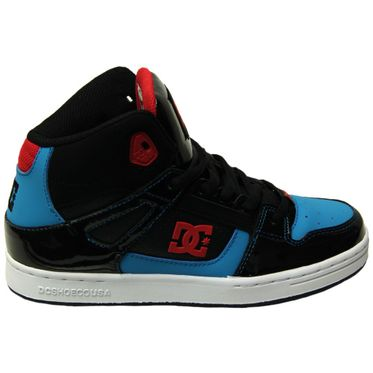 DC Shoes Kinder Sneaker Rebound Black/Athletic Red/Turquoise 302676