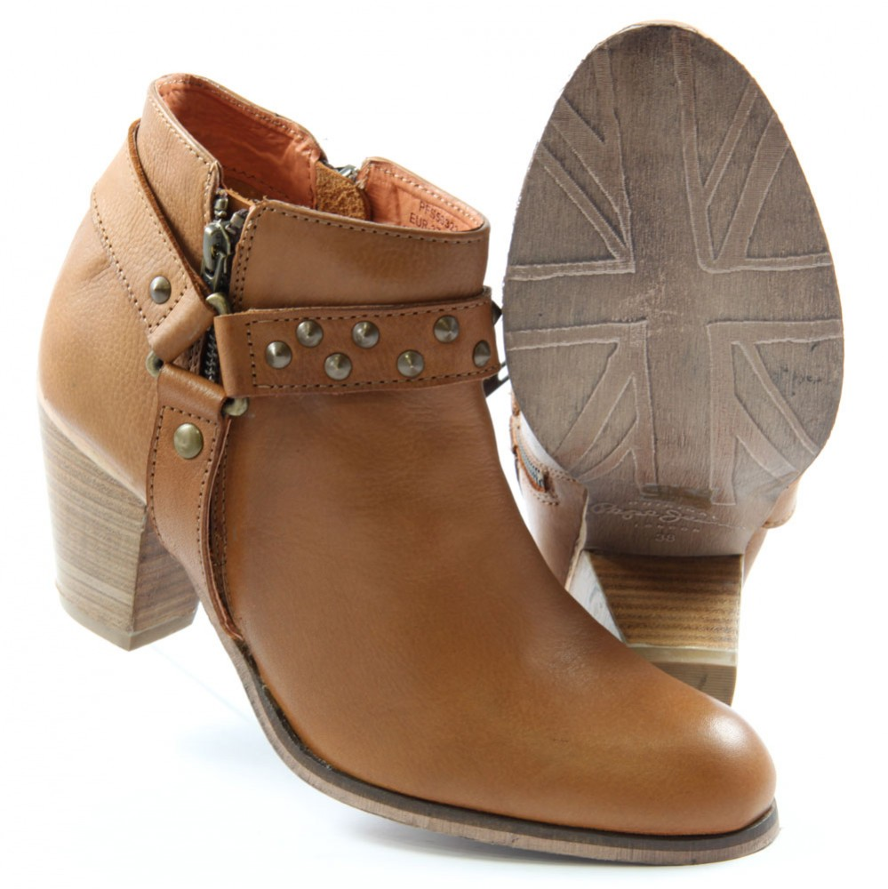 bb77de4b517c ... Preview 3 Pepe London Ankle Boots NEL-283 B Studs Booty Brown ...