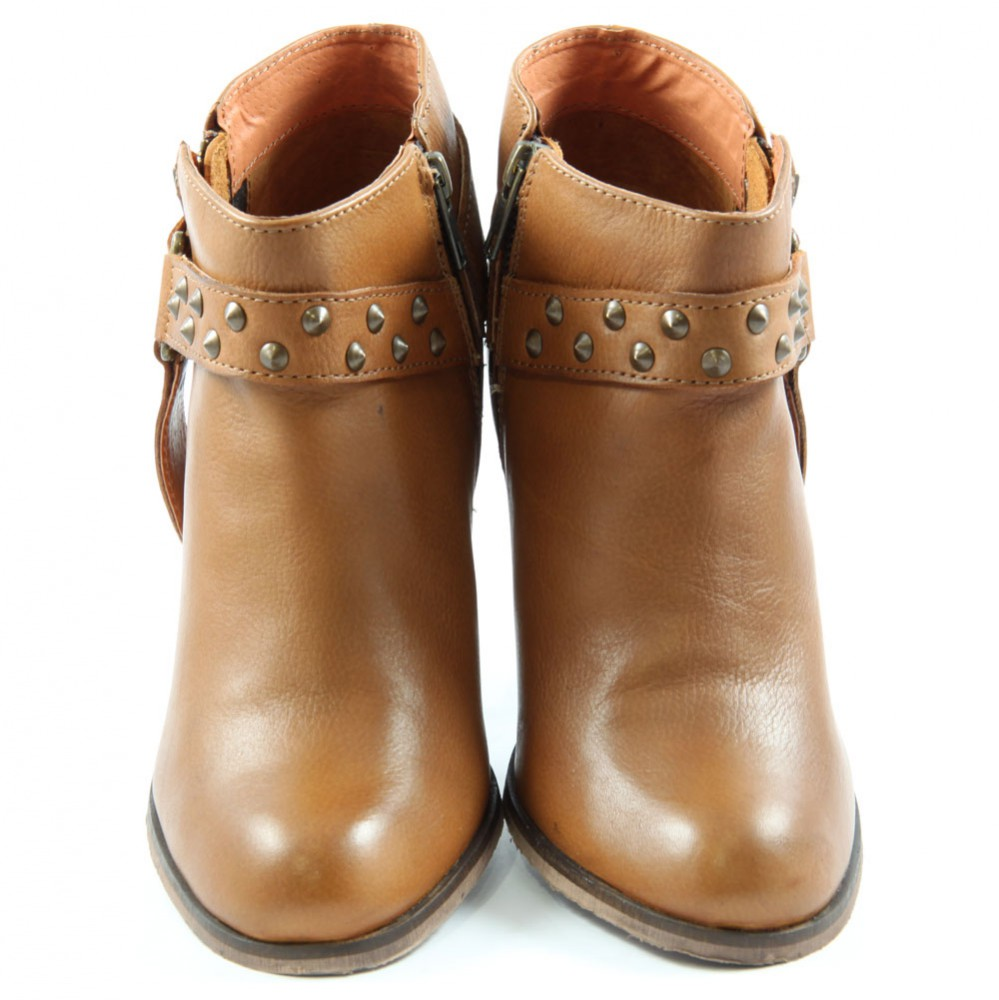 8eb166aaf09e ... Preview 5 Pepe London Ankle Boots NEL-283 B Studs Booty Brown