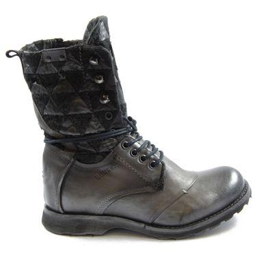 Bunker Damen Soft Stiefel/Boots Lara Army Gris