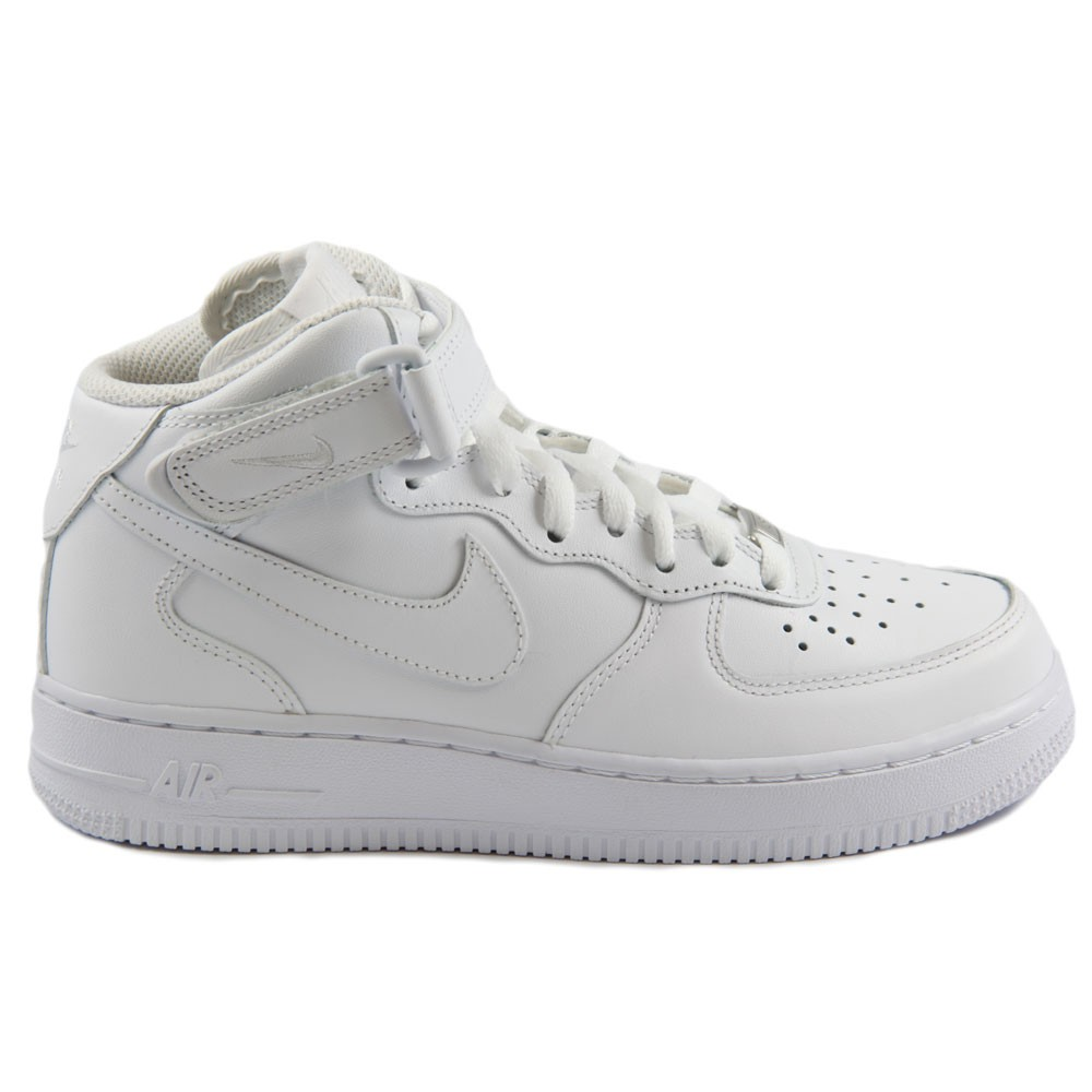 Nike Damen Sneaker WMNS Air Force 1 Mid 07 LE WhiteWhite