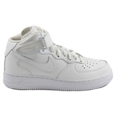 Nike Damen Sneaker WMNS Air Force 1 Mid 07 LE White/White