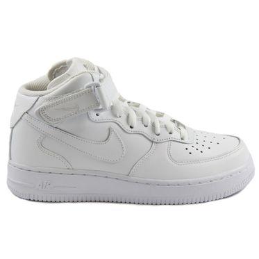 Nike Damen Sneaker WMNS Air Force 1 Mid 07 LE White/White