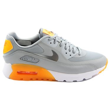 Nike Damen Sneaker Air Max 90 Ultra Essential Wlf Gry/Cl Gry-Lsr Orng-Ttl Or