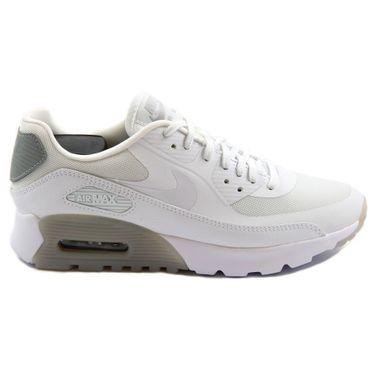 Nike Damen Sneaker Air Max 90 Ultra Essential White/White-Wlf Gry-Mtllc Slvr