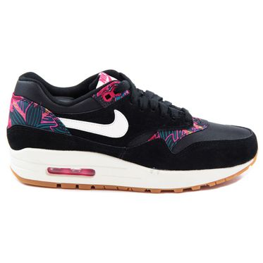 "Nike Damen Sneaker WMNS Air Max 1 Print ""Aloha Pack"" Black/Sail-Black-Pink Force"