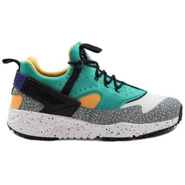 "Nike Herren Sneaker Air Huarache Utility PRM White/Black-Emerald Green-Rsn ""Safari Pack"""