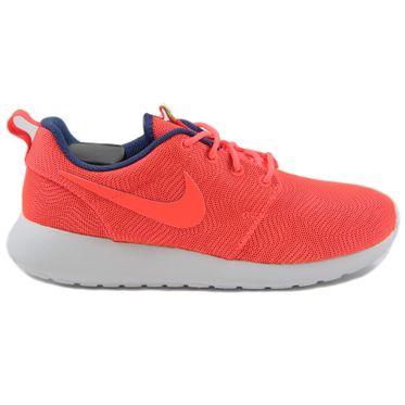 Nike Damen Sneaker Roshe One Moire Brght Crmsn/Brght Crmsn-White