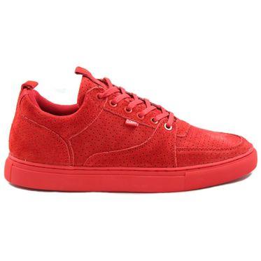 Djinns Herren Sneaker ForLow 3Ple Perfo Red