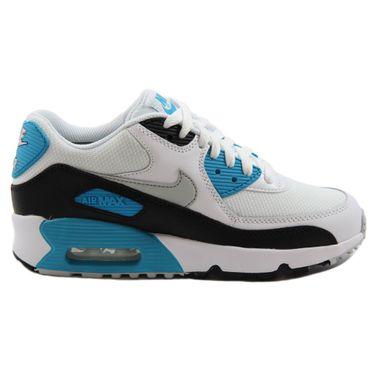 Nike Damen Sneaker Air Max 90 Mesh White/Neutral Grey-Blck-Bl Lgn