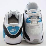 Preview 3 Nike Kinder Sneaker Air Max 90 Mesh TD White/Neutral Grey-Blck-Bl Lgn