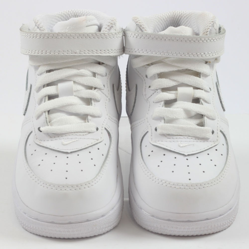 Nike Kinder Knöchel Sneaker Air Force 1 Mid WhiteWhite White