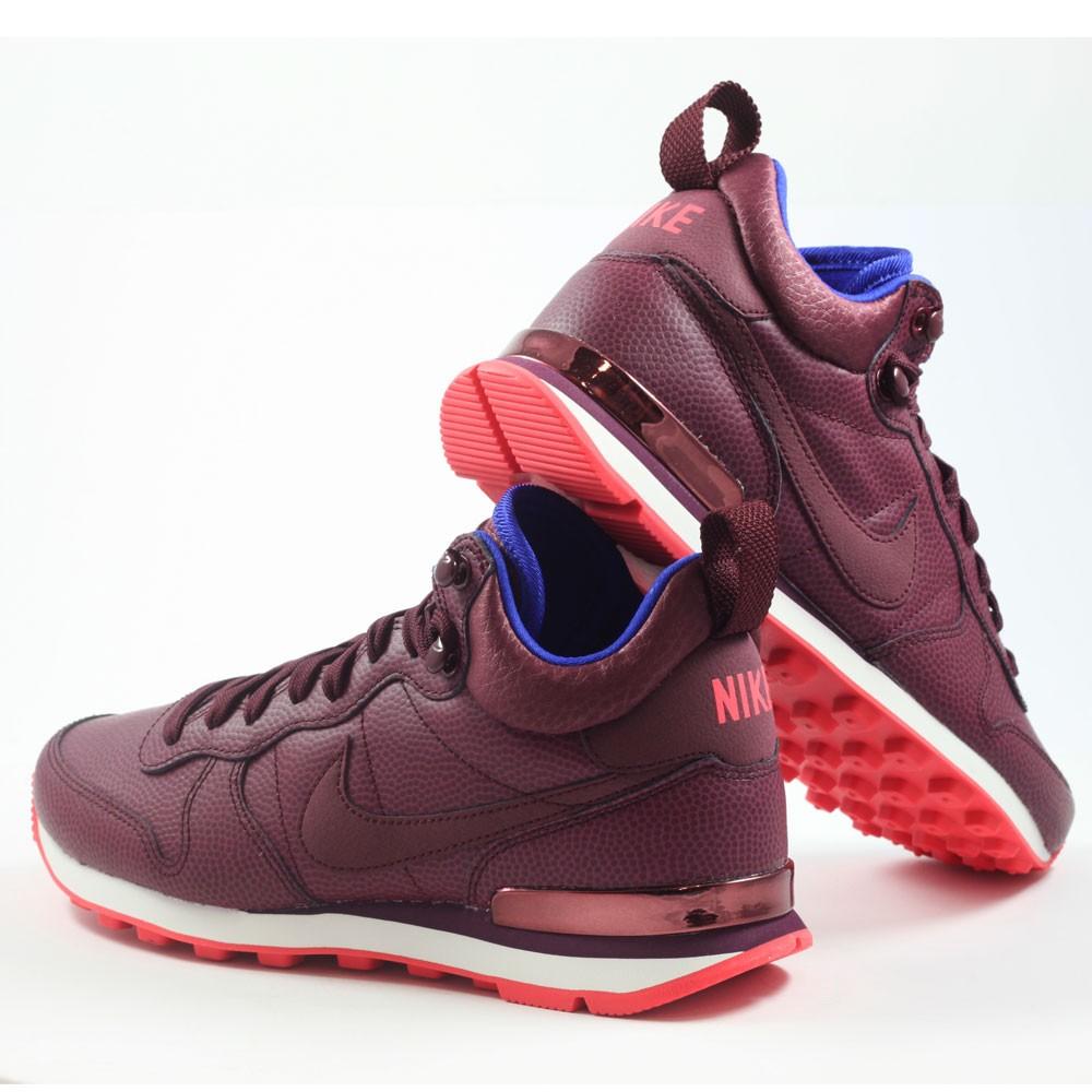 outlet for sale footwear 100% quality Nike Damen Sneaker Internationalist Mid LTHR Night Maroon ...