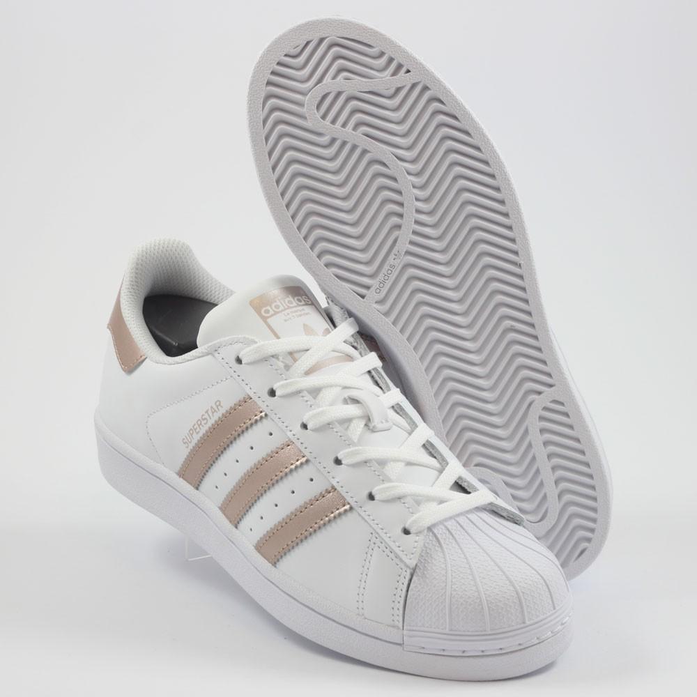 adidas damen sneakers superstar gold
