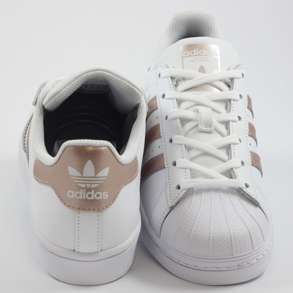 unique design outlet on sale top brands Adidas Damen Sneaker Superstar FtwWht/SupCol/FtwWht BA8169