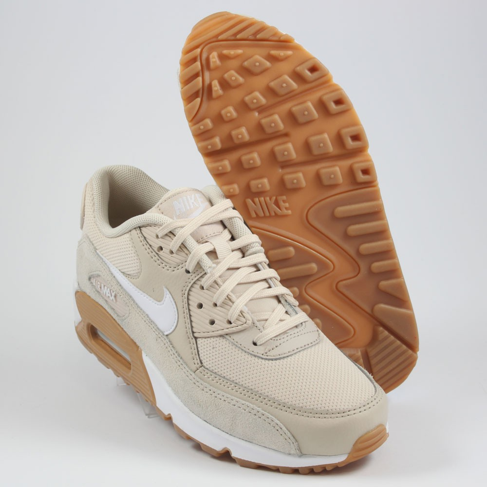 Nike Damen Sneaker Air Max 90 OatmealWhite Gum Light Brown