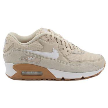 Nike Damen Sneaker Air Max 90 Oatmeal/White-Gum Light Brown