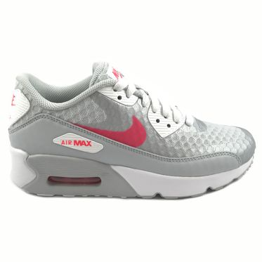 Nike Damen Sneaker Air Max 90 Ultra 2.0 BR Pure Platinum/Racer Pink-White