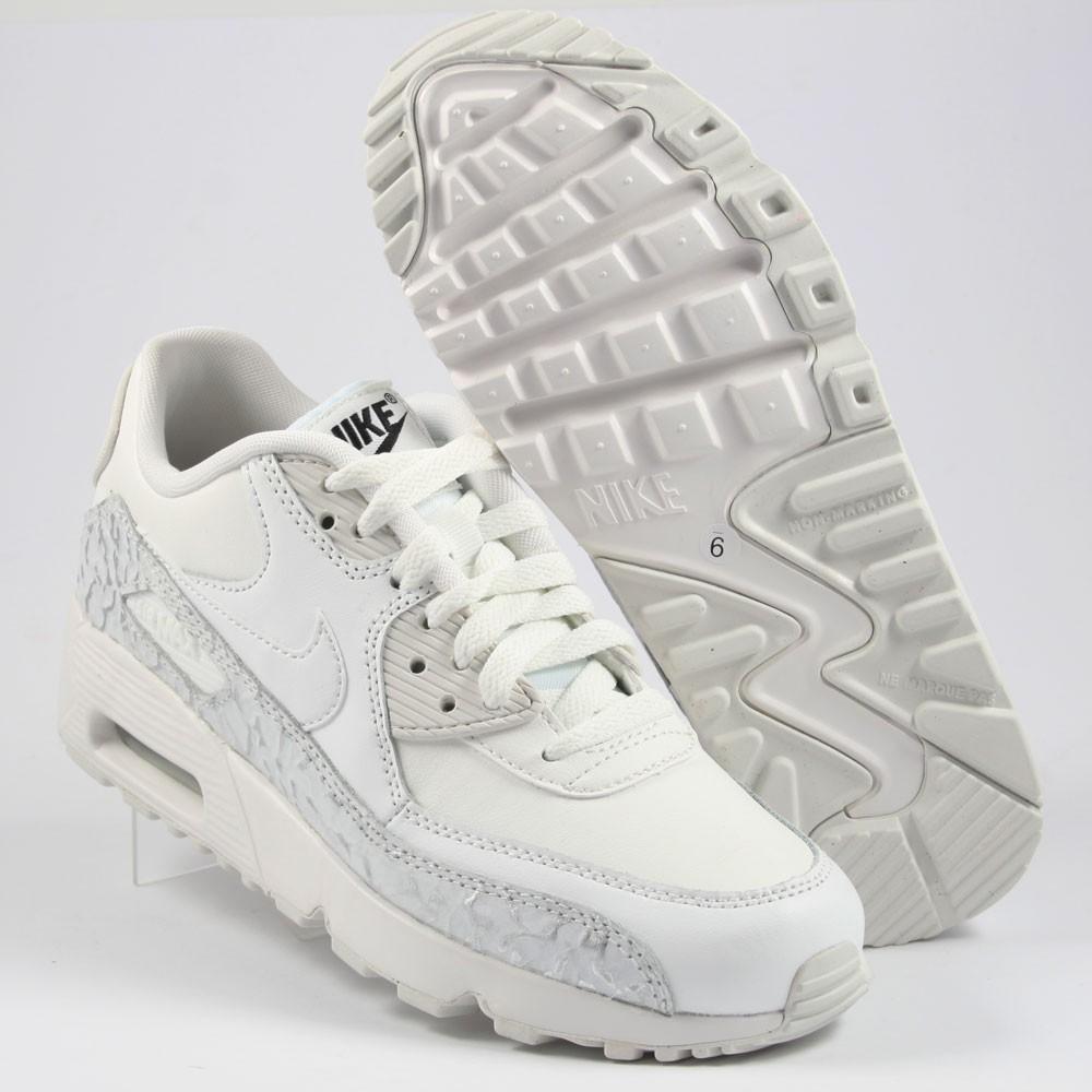 Nike Damen Sneaker Air Max 90 LTR Leather WhiteWhite