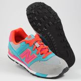 Preview 2 New Balance Damen/Kinder Sneaker KL574WTG Grey/Blue-Lila/Orange