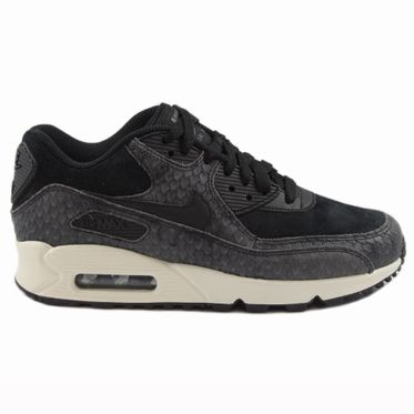Nike Damen Sneaker Air Max 90 PREM Black/Black-Sail-Dark Grey