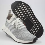 Preview 2 Adidas Herren Sneaker NMD_R2 PK Grey/White/Orange BY9410