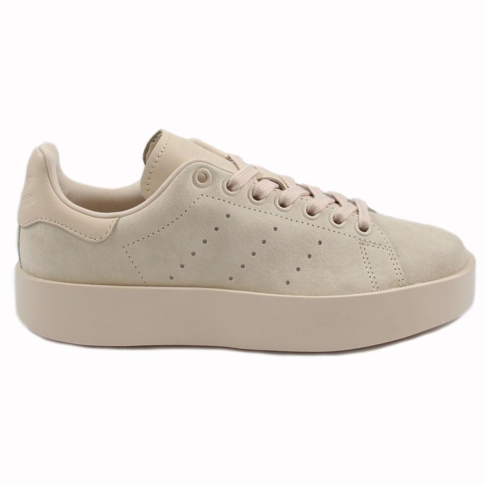 Adidas Damen Sneaker Stan Smith Bold LinenLinenLinen CG3773