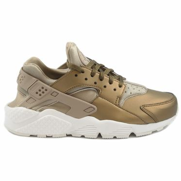Nike Damen Sneaker Air Huarache Run PRM TXT Khaki/Mtlc Field-Summt White