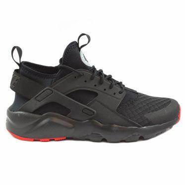 Nike Herren Sneaker Air Huarache Run Ultra Black/Metallic Silver