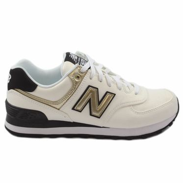 New Balance Damen Sneaker WL574SFG White/Gold