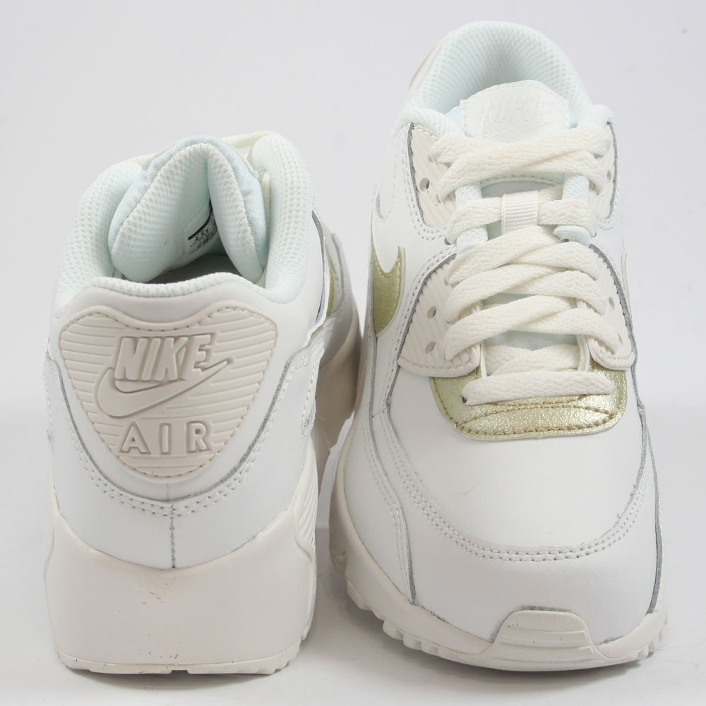 watch 6dcc8 17297 ... get preview 3 nike damen sneaker air max 90 ltr summt white mtlc gold  star 89798 ...