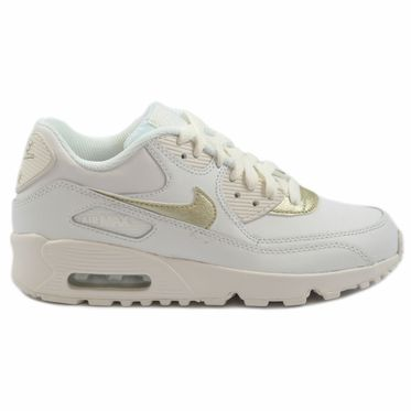 Nike Damen Sneaker Air Max 90 LTR Summt White /Mtlc Gold Star