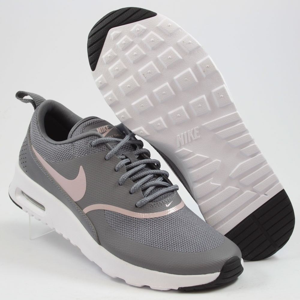 the best attitude 1f4f6 300f7 ... Preview 2 Nike Damen Sneaker Air Max Thea GunsmokeParticle Rose-Black  ...