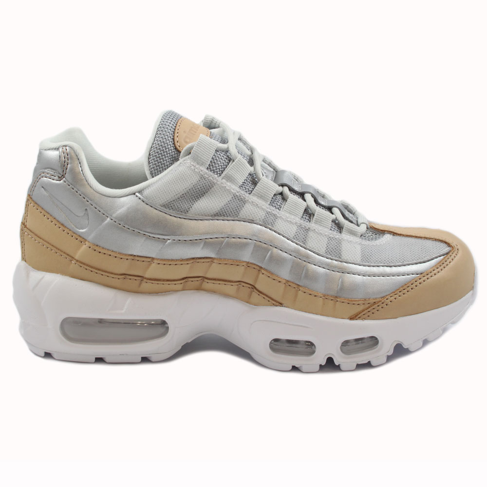 Preview 1 Nike Damen Sneaker Air Max 95 SE PRM Pure Platinum Metallic  Silver ... f87ca30a31