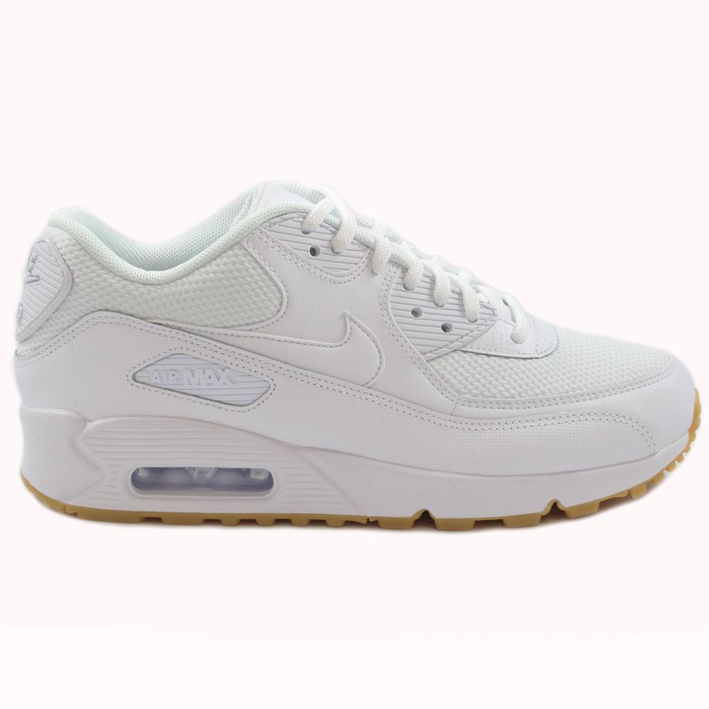 Nike Damen Sneaker Air Max 90 WhiteWhite Gum Light Brown