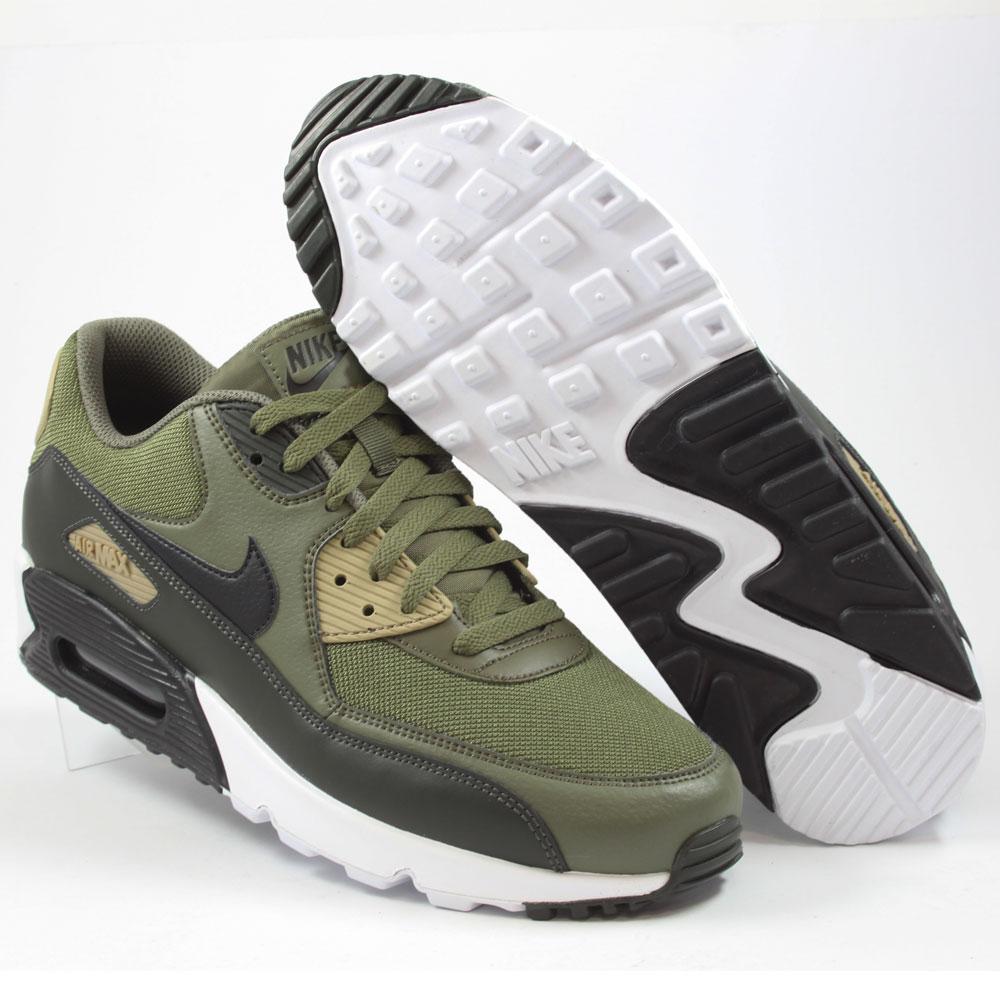 Nike Herren Sneaker Air Max 90 Essential Medium Olive/Black-Sequoia