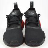 Preview 4 Adidas Herren Sneaker NMD_R1 Black/Black-Red B37618