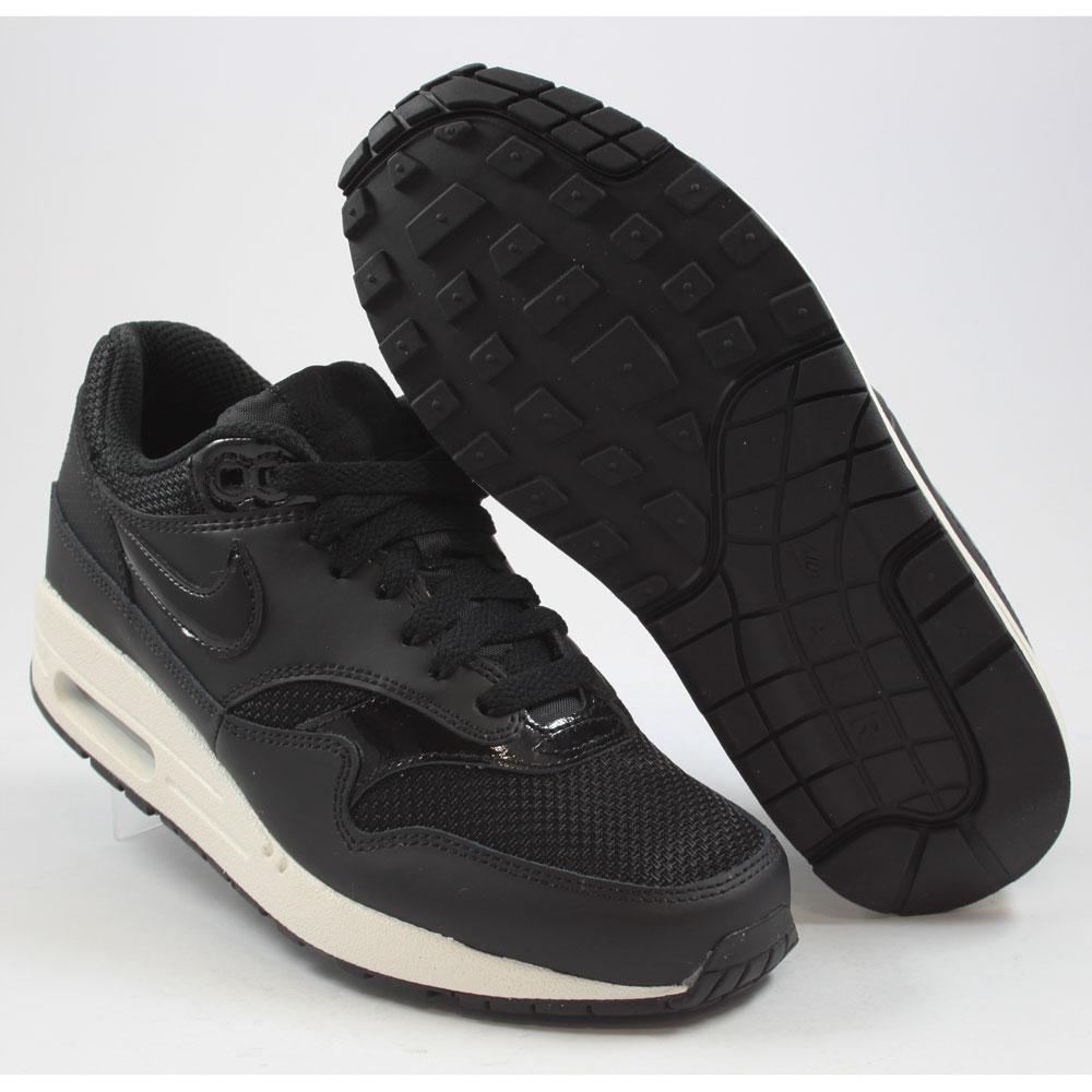 nike damen sneaker air max 1 black black black summt white. Black Bedroom Furniture Sets. Home Design Ideas