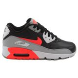 Nike Damen/Kinder Sneaker Air Max 90 LTR Wolf Grey/Bright Crimson-Black