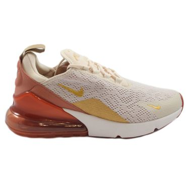 Nike Damen Sneaker Air Max 270 Light Cream/Metallic Gold